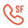 Icône de téléphone sans frais