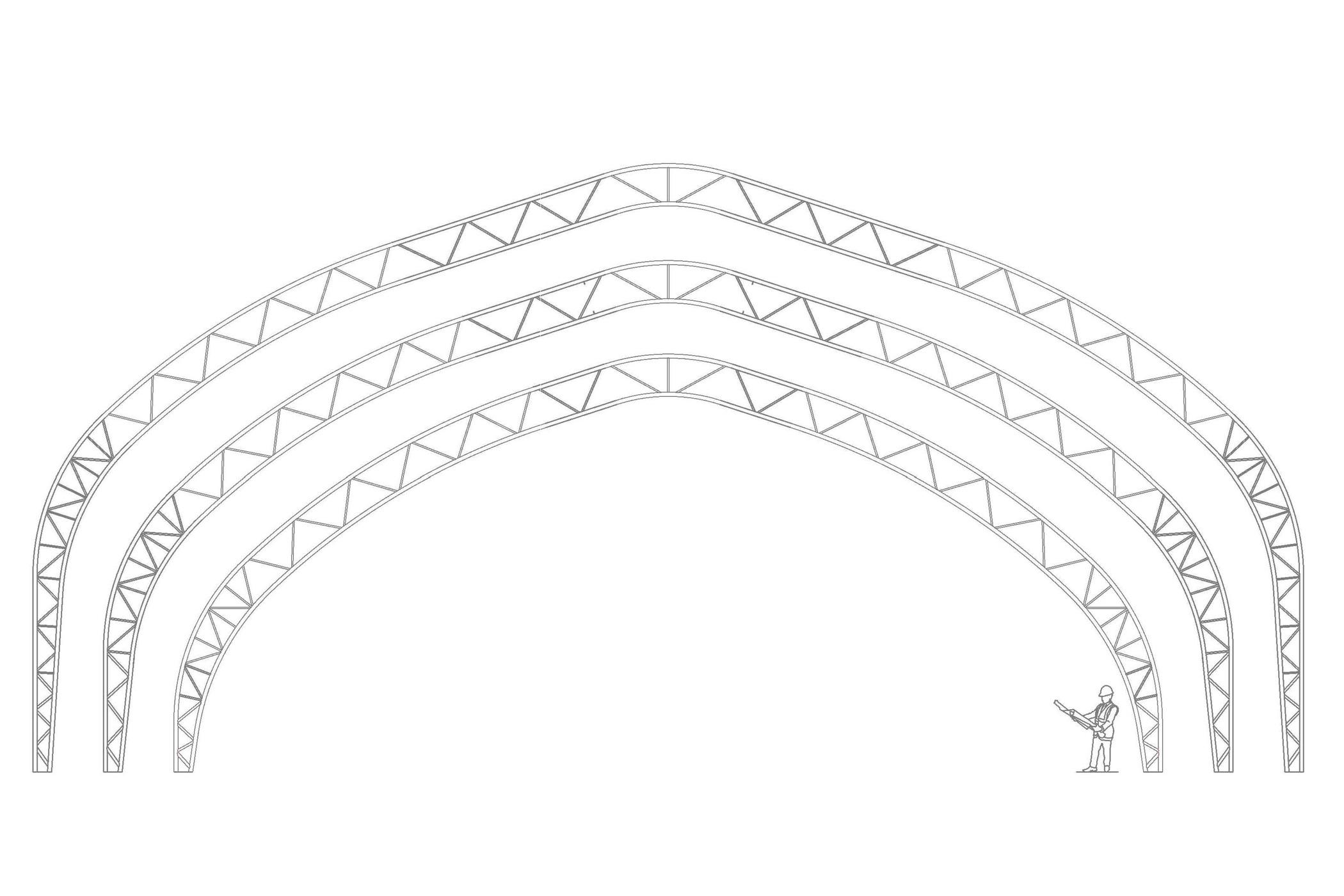 Structure permodome dessin 2