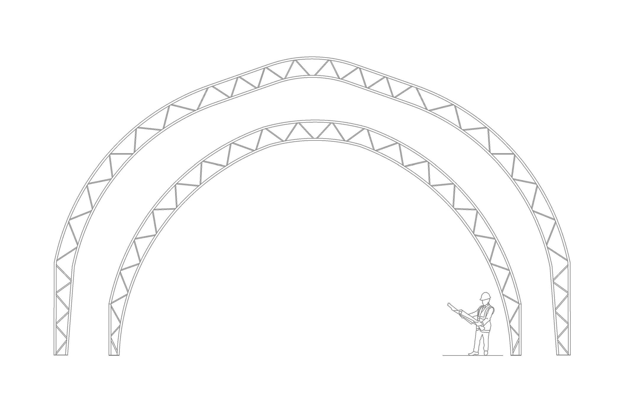 Structure permodome dessin 4