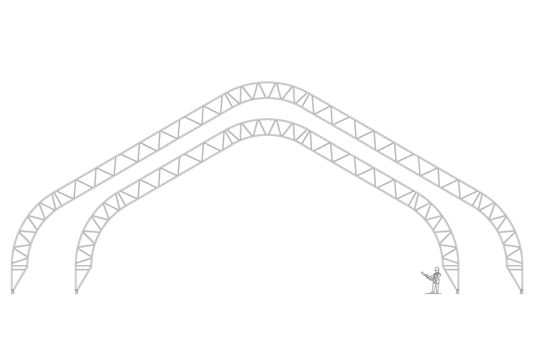 Structure permodome dessin 3