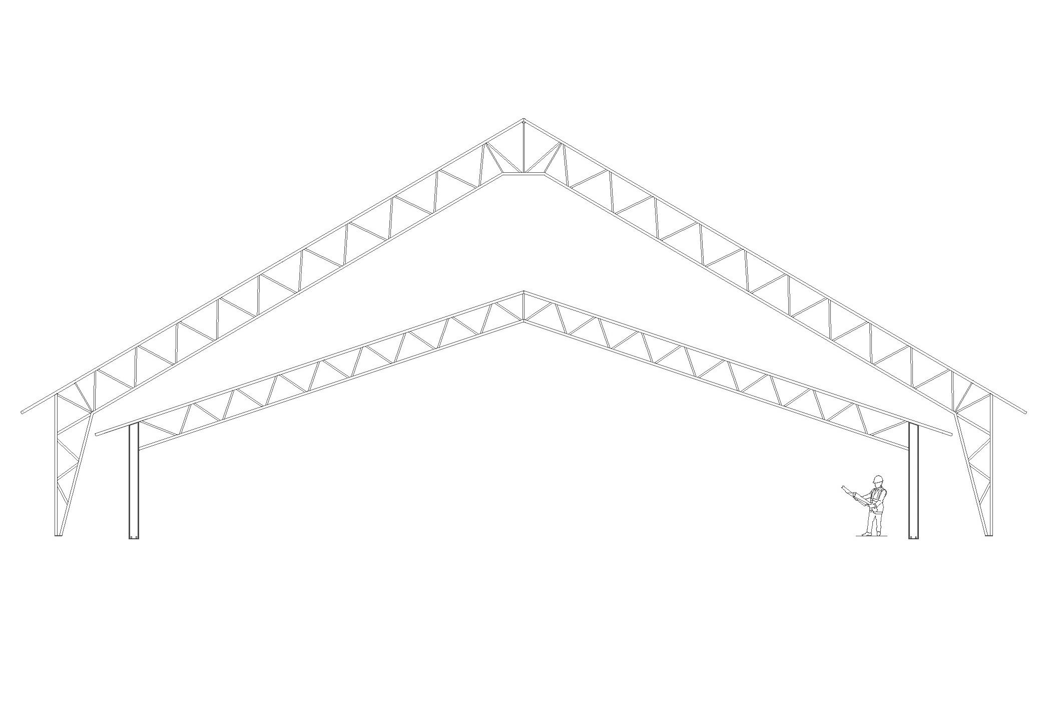Structure permodome dessin